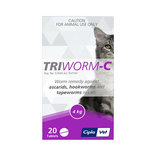 Triworm-C Tablets for Cat Supplies