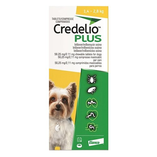 CREDELIO PLUS For Extra Small Dog 1.4-2.8kg Yellow