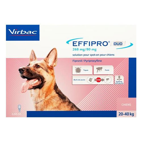 Effipro Duo Spot- On for Large Dogs 45 to 88 lbs
