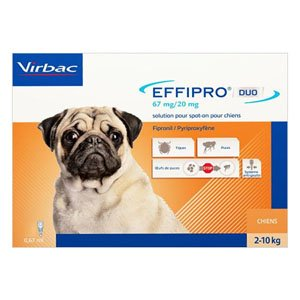 Effipro Duo Spot- On for Small Dogs up to 22 lbs