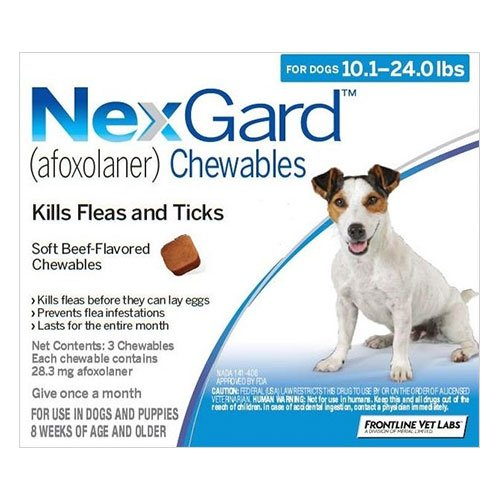 Nexgard Chewables For Dogs 4.1 - 10 Kg (Blue)
