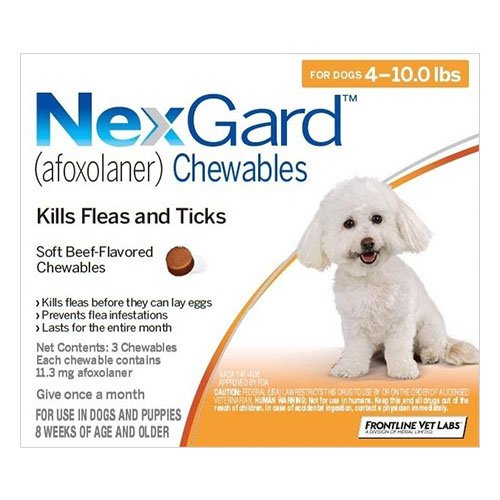 Nexgard Chewables For Dogs 2 - 4 Kg (Orange)