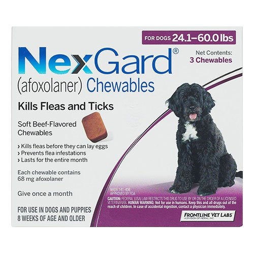 Nexgard Chewables For Dogs 10.1 - 25 Kg (Purple)