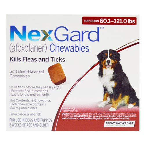 Nexgard Chewables For Dogs 25.1 - 50 Kg (Red)