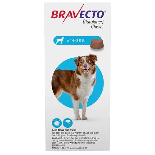 Bravecto For Large Dogs 20-40kg (Blue)
