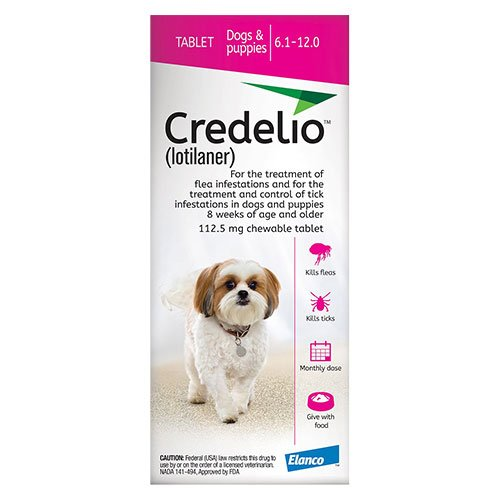 Credelio for Dogs 06 to 12 lbs (112.5mg) Pink