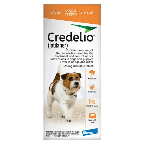 Credelio for Dogs 12 to 25 lbs (225mg) Orange