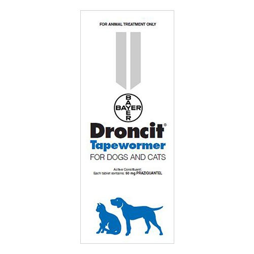 Droncit Tapewormer for Cats & Dogs