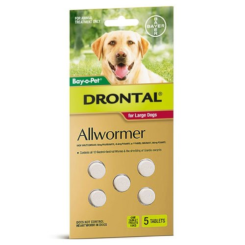 Drontal Wormers Tabs For Dogs 35Kg