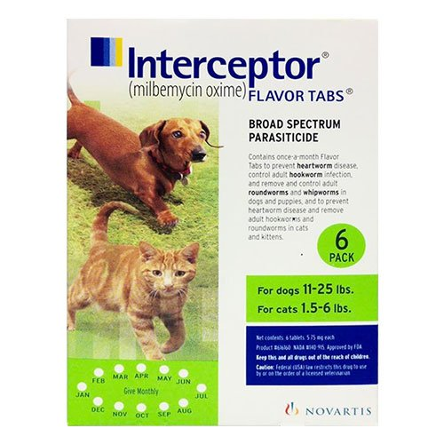 Interceptor For Dogs 11-25 Lbs (Green)