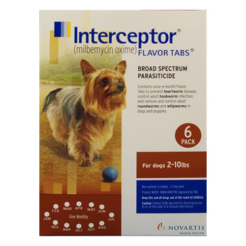 Interceptor For Dogs 2-10 Lbs (Brown)