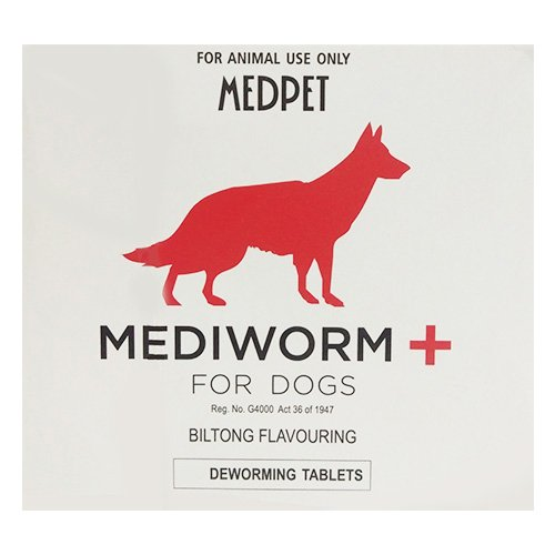 Mediworm Plus Wormer for Dogs 22 lbs (10 kg)