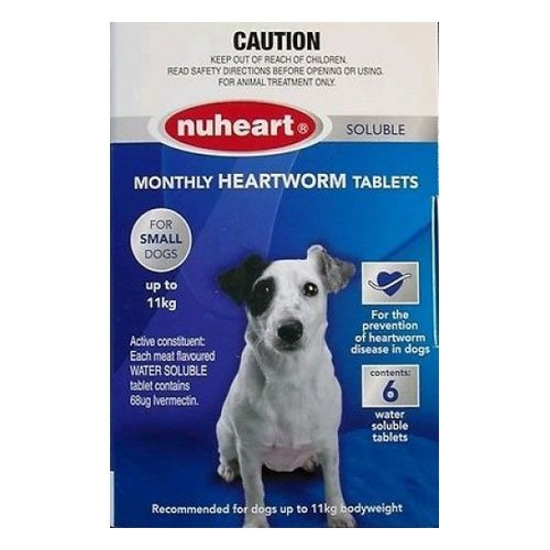 Nuheart Generic Heartgard For Small Dogs - Nuheart Up To 11Kg (Blue)