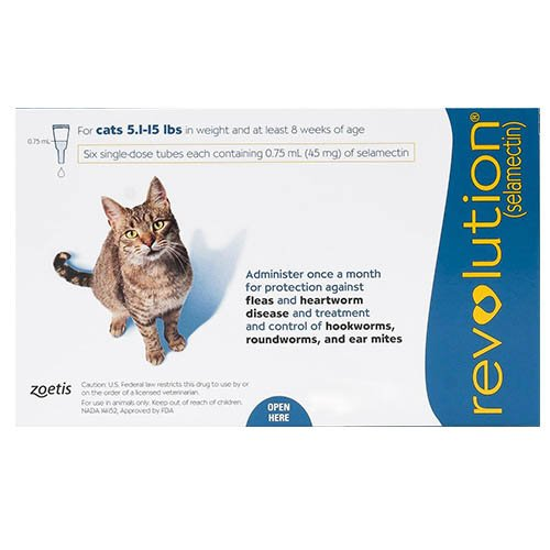 Revolution For Cats (Blue) 2.6 - 7.5 kg
