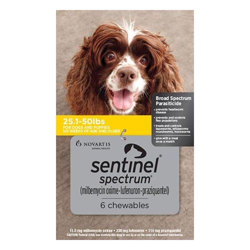 Sentinel Spectrum Tasty Chews For Medium Dogs 11 To 22Kg (Yellow)