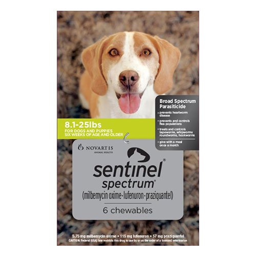 Sentinel Spectrum Tasty Chews For Small Dogs 4 To 11Kg (Green)