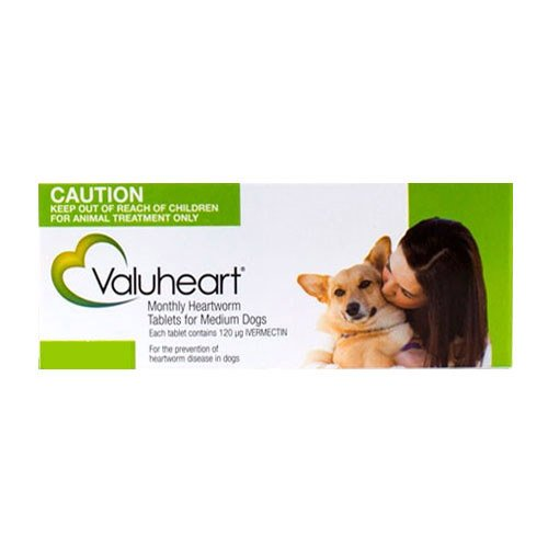 Valuheart Heartworm Tablets For Medium Dogs 11 To 20Kg (Green)